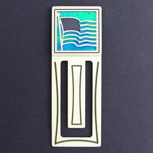 American Flag Engraved Bookmark