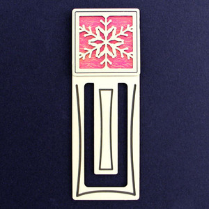 Snowflake Engraved Bookmark