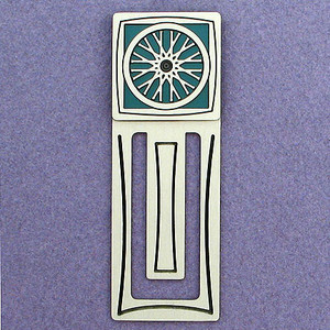 Bike Wheel Engraved Bookmark