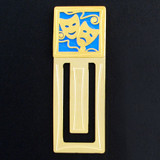 Drama Masks Engraved Bookmark