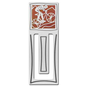 Mountain Biker Engraved Bookmark