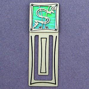 Dollar Sign Engraved Bookmark