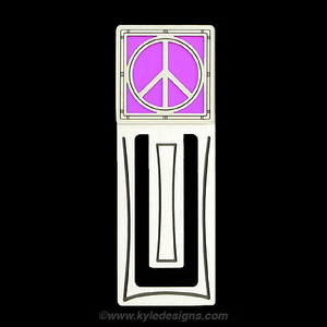 Peace Sign Engraved Bookmark