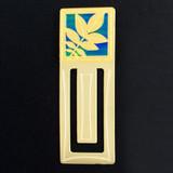 Walnut Leaf Engraved Bookmark