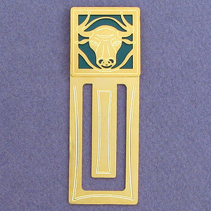 Bull Engraved Bookmark