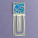 Abstract Circles Engraved Bookmark