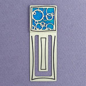 Abstract Circles Engraved Bookmark