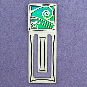 Wave Engraved Bookmark