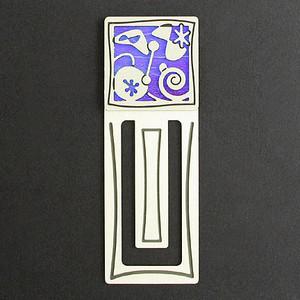 Retro Modern Engraved Bookmark