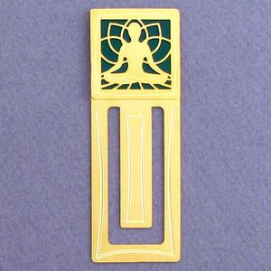 Yoga Meditation Engraved Bookmark