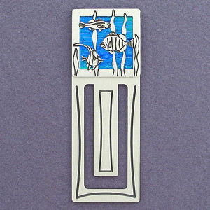Tropical Fish Engraved Bookmark