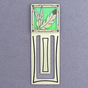 Indian Feather Engraved Bookmark