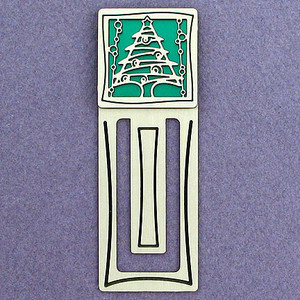 Christmas Tree Engraved Bookmark