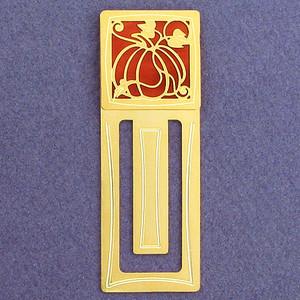 Pumpkin Engraved Bookmark