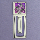Iris Flower Engraved Bookmark