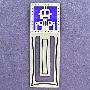 Robot Engraved Bookmark