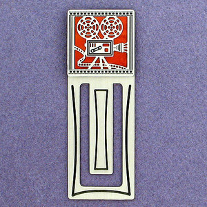 Film Projector Engraved Bookmark
