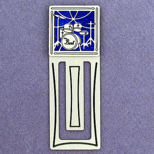Drummer Engraved Bookmark