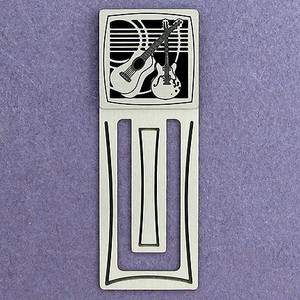 Guitar Engraved Bookmark
