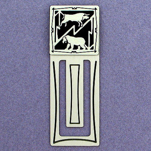 Stock Market Engraved Bookmark