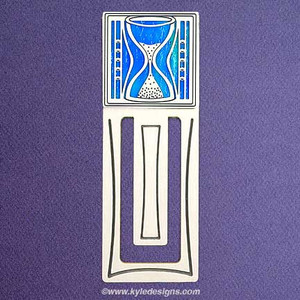 Hourglass Engraved Bookmark