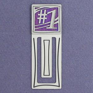 #1 Engraved Metal Bookmark