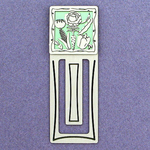 Vegetable Metal Bookmark - Engraved