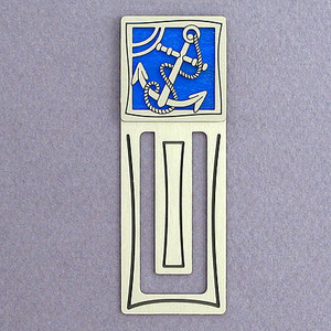 Anchor Engraved Bookmark
