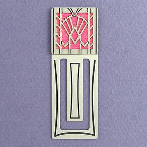 Art Deco Fan Engraved Bookmark