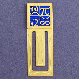 Mathematical Symbols Engraved Bookmark