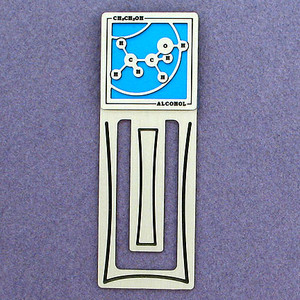 Alcohol Molecule Engraved Bookmark