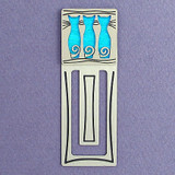 Triple Cats Engraved Bookmark