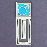 Male Gender Symbol Engraved Bookmark
