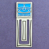 Water Drop Engraved Bookmark