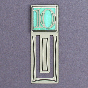 10th Engraved Bookmark