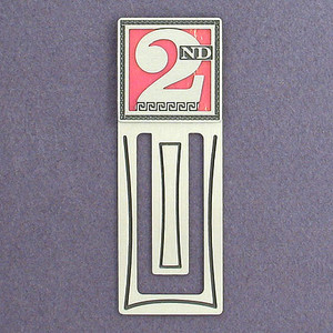 Second Place Engraved Bookmark