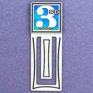 Third Place Engraved Bookmark