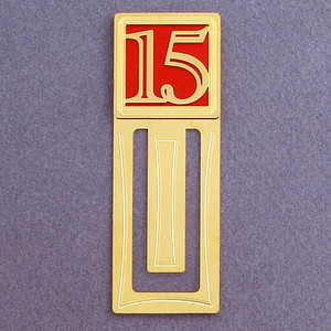 15th Engraved Bookmarks