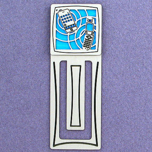 Cell Phones Engraved Bookmark