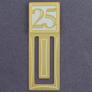 25th Engraved Bookmark