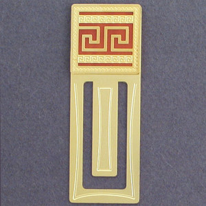 Greek Engraved Bookmark