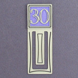 30th Engraved Bookmark