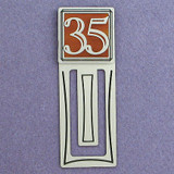 35th Engraved Bookmark
