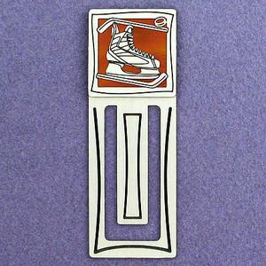 Hockey Skate Engraved Bookmark