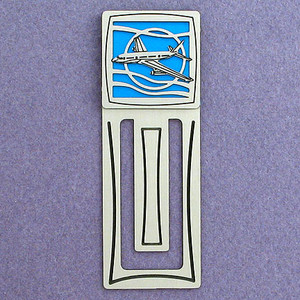 Airliner Engraved Bookmark