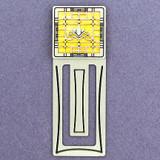 Victorian Lotus Flower Engraved Bookmark