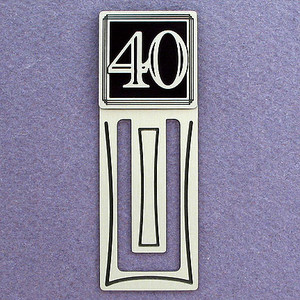 40th Engraved Bookmark