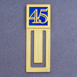 45th Engraved Bookmark