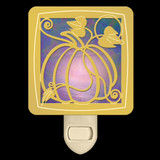 Purple Pumpkin Night Light