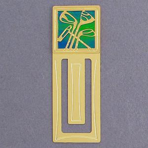 Golfing Metal Bookmark - Engraved
